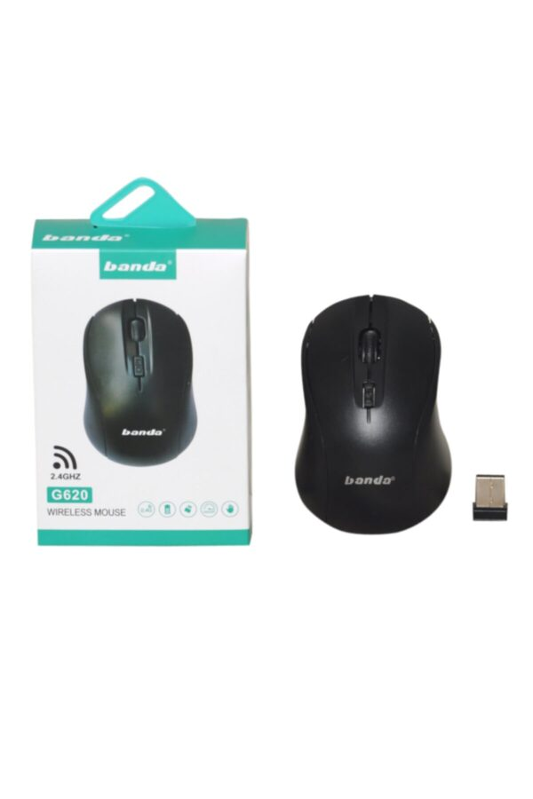 Banda G620 1600 DPI Wireless Optical Mouse with 2.4G USB Receiver